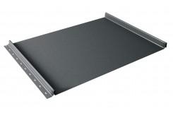 Кликфальц 0,5 Satin с пленкой на замках RAL 7016 антрацитово-серый