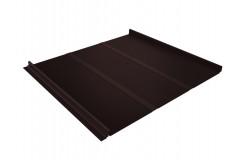 Кликфальц Line 0,5 Satin с пленкой на замках RAL 8017 шоколад