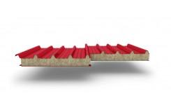 Сэндвич-панели для кровли с наполнителем минеральная вата, толщина 50 мм, Полиэстер RAL3020