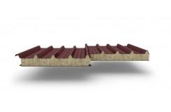 Сэндвич-панели для кровли с наполнителем минеральная вата, толщина 60 мм, Полиэстер RAL3009
