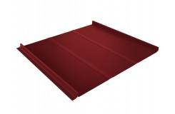 Кликфальц Line 0,5 Satin с пленкой на замках RAL 3011 коричнево-красный