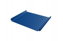 Кликфальц Pro Gofr 0,45 PE с пленкой на замках RAL 5002 ультрамариново-синий