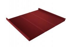 Фальц двойной стоячий Line 0,45 PE с пленкой на замках RAL 3011 коричнево-красный