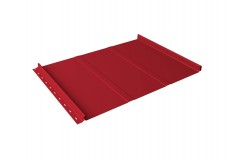 Кликфальц Line 0,45 PE с пленкой на замках RAL 3003 рубиново-красный