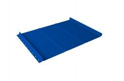 Кликфальц Line 0,45 PE с пленкой на замках RAL 5002 ультрамариново-синий
