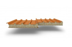 Сэндвич-панели для кровли с наполнителем минеральная вата, толщина 50 мм, Полиэстер RAL2004