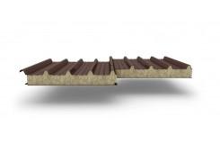 Сэндвич-панели для кровли с наполнителем минеральная вата, толщина 50 мм, Полиэстер RAL8017