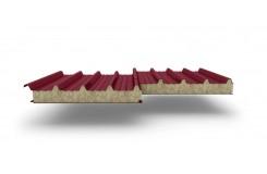Сэндвич-панели для кровли с наполнителем минеральная вата, толщина 60 мм, Полиэстер RAL3011