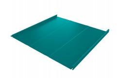 Фальц двойной стоячий Line 0,45 PE с пленкой на замках RAL 5021 водная синь