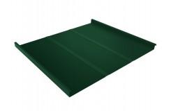 Фальц двойной стоячий Line 0,45 PE с пленкой на замках RAL 6005 зеленый мох