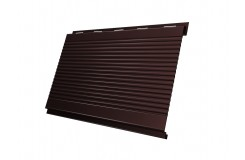Вертикаль 0,2 gofr 0,5 Satin с пленкой RAL8017 шоколад