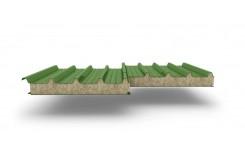 Сэндвич-панели для кровли с наполнителем минеральная вата, толщина 50 мм, Полиэстер RAL6002