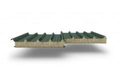 Сэндвич-панели для кровли с наполнителем минеральная вата, толщина 50 мм, Полиэстер RAL6005