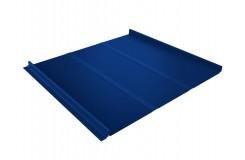 Кликфальц Line 0,5 Satin с пленкой на замках RAL 5005 сигнальный синий