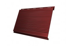 Вертикаль 0,2 gofr 0,45 PE с пленкой RAL3009 оксидно-красный