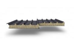 Сэндвич-панели для кровли с наполнителем минеральная вата, толщина 60 мм, Полиэстер RAL7024
