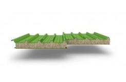 Сэндвич-панели для кровли с наполнителем минеральная вата, толщина 50 мм, Полиэстер RAL6018