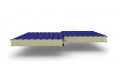 Сэндвич-панели стеновые с наполнителем из пенополиизоцианурата толщиной 220 мм, Ширина- 1160 мм, Полиэстер RAL5002