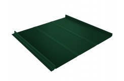 Кликфальц Line 0,45 PE с пленкой на замках RAL 6005 зеленый мох