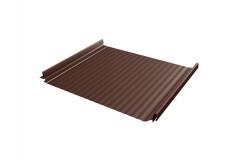 Кликфальц Pro Gofr 0,5 Стальной бархат с пленкой на замках RAL 8017 шоколад
