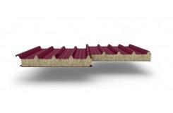 Сэндвич-панели для кровли с наполнителем минеральная вата, толщина 50 мм, Полиэстер RAL3005