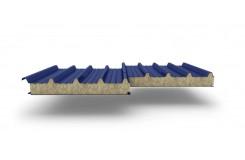 Сэндвич-панели для кровли с наполнителем минеральная вата, толщина 50 мм, Полиэстер RAL5005